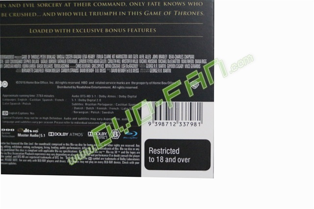 Game of Thrones Complete Seasons 1-5 [ Blu Ray]
