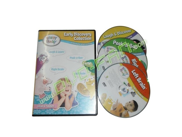 Brainy Baby Early Discovery Collection 4 DVD Gift Set